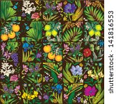 vivid decorative background | Shutterstock .eps vector #141816553