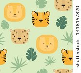 seamless pattern with vector...   Shutterstock .eps vector #1418197820