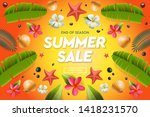 summer sale template  web... | Shutterstock .eps vector #1418231570