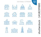buildings related icons.... | Shutterstock .eps vector #1418239880