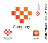 abstract bright modern logo... | Shutterstock .eps vector #1418245040