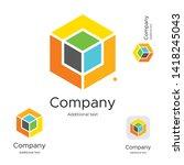 abstract bright modern logo... | Shutterstock .eps vector #1418245043