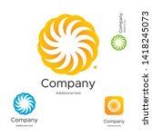 abstract bright modern logo... | Shutterstock .eps vector #1418245073