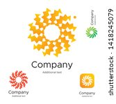 abstract bright modern logo... | Shutterstock .eps vector #1418245079
