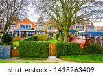 rural village houses scene view.... | Shutterstock . vector #1418263409