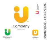 abstract bright modern logo... | Shutterstock .eps vector #1418273726