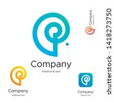 abstract bright modern logo... | Shutterstock .eps vector #1418273750