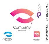 abstract bright modern logo... | Shutterstock .eps vector #1418273753