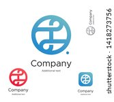 abstract bright modern logo... | Shutterstock .eps vector #1418273756