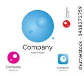 abstract bright modern logo... | Shutterstock .eps vector #1418273759