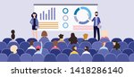 business presentation with... | Shutterstock .eps vector #1418286140