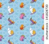 seamless background  cartoon... | Shutterstock .eps vector #141828730
