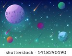 space background with shining... | Shutterstock .eps vector #1418290190
