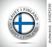 made in finland flag metal icon  | Shutterstock .eps vector #1418292230