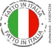 made in italy flag grunge icon | Shutterstock .eps vector #1418292236