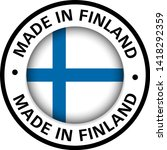 made in finland flag icon | Shutterstock .eps vector #1418292359