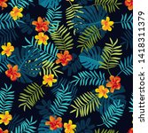 tropical summer seamless... | Shutterstock .eps vector #1418311379