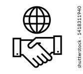 business deal with global.... | Shutterstock .eps vector #1418311940