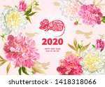 rat is a symbol of the 2020... | Shutterstock .eps vector #1418318066