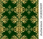 orient textile print for bed...   Shutterstock .eps vector #1418324039