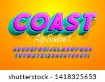 colorful 3d display font design ... | Shutterstock .eps vector #1418325653