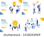 isometric business people with... | Shutterstock .eps vector #1418333969
