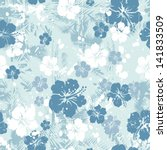 tropical floral seamless... | Shutterstock .eps vector #141833509
