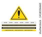 vector hazard frame. caution... | Shutterstock .eps vector #1418336660