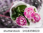 Bouquet Of Flowers In A Basket...
