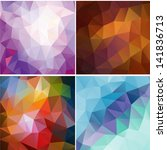 set of four colorful abstract... | Shutterstock .eps vector #141836713
