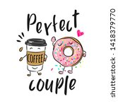 perfect couple slogan with... | Shutterstock .eps vector #1418379770