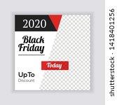social media banner template....   Shutterstock .eps vector #1418401256