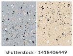 set o 2 abstract  grunge vector ... | Shutterstock .eps vector #1418406449