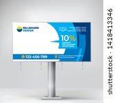 billboard design  creative... | Shutterstock .eps vector #1418413346