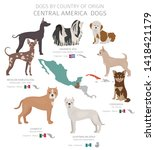 dogs by country of origin.... | Shutterstock .eps vector #1418421179