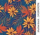 trend seamless pattern with... | Shutterstock .eps vector #1418424296
