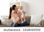 family  motherhood and people...   Shutterstock . vector #1418434550