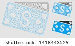 mesh dollar banknotes model... | Shutterstock .eps vector #1418443529