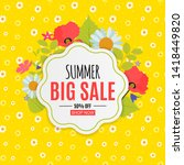 abstract summer sale background.... | Shutterstock . vector #1418449820