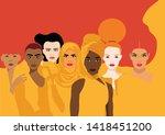 diversity   violence against... | Shutterstock .eps vector #1418451200