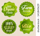 eco labels with retro vintage... | Shutterstock .eps vector #141845629