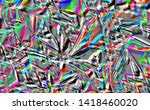 rainbow colored abstract... | Shutterstock . vector #1418460020