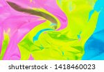 rainbow colored abstract... | Shutterstock . vector #1418460023