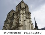 notre dame cathedral in paris ... | Shutterstock . vector #1418461550