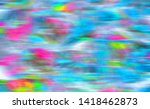 rainbow colored abstract... | Shutterstock . vector #1418462873