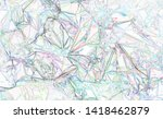 rainbow colored abstract... | Shutterstock . vector #1418462879