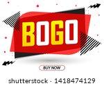 buy 1 get 1 free  sale banner... | Shutterstock .eps vector #1418474129