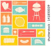 vector illustration of barbecue ... | Shutterstock .eps vector #141850039