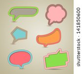 vector illustration of colorful ... | Shutterstock .eps vector #141850600