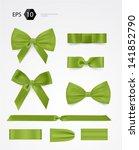 vector bow collection | Shutterstock .eps vector #141852790